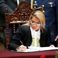 Presidente interina da Bolívia, Jeanine Añez 24/11/2019 REUTERS/David Mercado