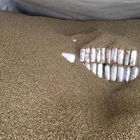 Tabletes de cocaína em meio a carga de café verde, tipo arábica,  a granel, que iria para a Bélgica Fonte Receita Federal