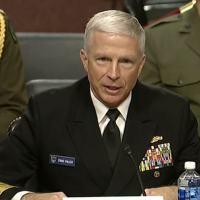 Almirante Craig Faller na apresentação ao Senado Americano dia 30JAN2020.