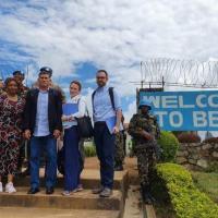 Gen Santos em recente inspeção às atividades da MONUSCO na República Democrática do Congo.