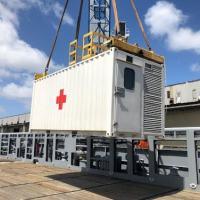 Embarque do Contêiner de Tratamento de Doenças Infectocontagiosas a bordo do Navio de Apoio Oceânico