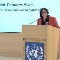 Na 43ª Reunião Conselho de Direitos Humanos da ONU a ministra Damares Alves realiza disscurso