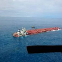Navio Stellar Banner, carregado minério de ferro, começou a afundar no oceano, próximo ao litoral do Maranhão - Divulgação