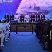 Autoridades presentes e membros do Consórcio Águas Azuis. Foto MD