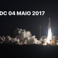 Na segunda-feira, 04MAIO2020, completou 3 anos do lançamento do Satélite Geoestacionário de Defesa e Comunicações Estratégicas (SGDC) no Centro Espacial de Kourou, na Guiana Francesa.