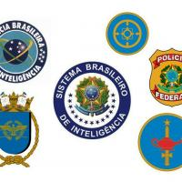 Algumas entidades militares e civis que participam do Sistema Brasileiro de Inteligência (SISBIN)
