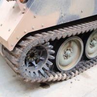 Lagarta emborrada em uso nos M113Br do Exército Brasileiro.