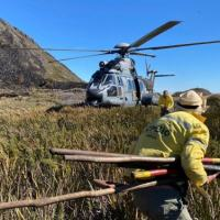 EsqdHU-2 em ação de resgate aos brigadistas do Instituto Chico Mendes de Conservação da Biodiversidade