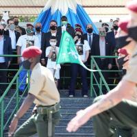 Presidente Bolsona compareceu à solenidade da brevetação de novos paraquedistas, sábado (15AGO2020)