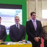 Delegação brasileira no Fórum Army2020. Da esquerda para direita: secretário Tiago Carneiro, embaixador Tovar da Silva Nunes, secretário Marcos Degaut e general Duizit Brito Foto Sputnik