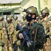 Apronto operacional da Subunidade Culminating para exercício na Academia Militar das Agulhas Negras
