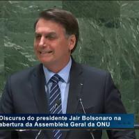 Discurso do presidente Jair Bolsonaro na abertura da 74ª Assembleia Geral das Nações Unidas - Foto Allan Santos Planalto
