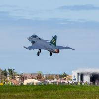 Today, September 24, the first Brazilian Gripen E, designated by Brazilian Air Force (FAB) as F-39 Gripen, concluded its first flight in Brazil.