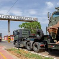 Em 16 de Outubro a seção de ASTROS2020, que participou na Operção Amazonia 2020, cruzou o pórtico do Forte Santa Barbara. Sede do Comando da Artilharia do Exército Brasileiro - Foto Cmdo Artilharia