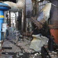 Estragos na refinaria Amuay, em foto divulgada pela vice-presidência da Venezuela