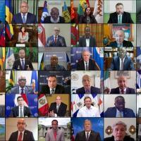 Na Assembleia Anual da OEA, realizada via Internet em 20-21OUT2020, foi considerada uma resolução que condiciona o reconhecimento de qualquer eleição que possa ser realizada na Venezuela