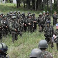 O Comandante da 5ª Bda C Bld, Gen Bda Sergio Martins Pereira Jr. fala com suas tropas. O Processo - Certificação FORPRON (FORÇA DE PRONTIDÃO) da Força Terrestre avalia comandantes e comandados.