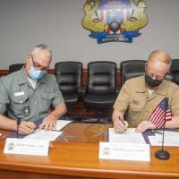 Comandantes das Forças de Submarinos do Brasil e dos EUA selaram acordos durante o encontro