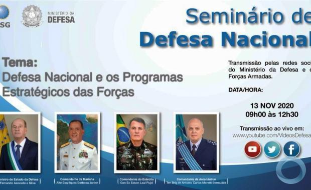Ministério da Defesa promove Seminário de Defesa Nacional