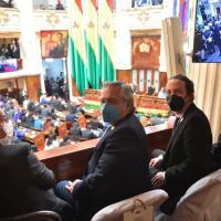 Na posse do presidente Arce da Bolíviaua estavam o presidente argentino Alberto Fernández e o segundo vice-presidente da Espanha Pablo Iglesias, os dois integrantes do chamado Grupo Puebla.