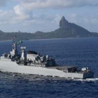 """Fragata """"União"""" em patrulha na área do Arquipélago de Fernando de Noronha"""