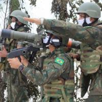 Bateria de Artilharia Antiaérea em posição