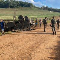 Marruá do Exército Brasileiro tomba no interior de Dionísio Cerqueira/SC