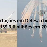Levantamento da Secretaria de Produtos de Defesa (SEPROD) do Ministério da Defesa indica crescimento das exportações de defesa brasileiras