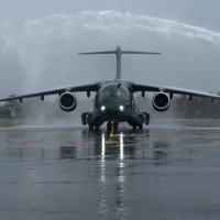 A quarta aeronave KC-390 Millenium recebida na ALA2, Anápolis. Foto Cecomsaer