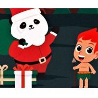 Imagem postada na conta de Instagram da Embaixada da China no Brasil mostra um panda de Papai Noel e um sorridente curupira a espera dos presentes. NOTA - Post deletado da conta  Reprodução/Instagram/Embaixada da China
