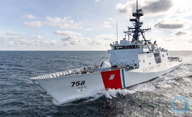 USCGC Stone underway for first patrol, Operation Southern Cross