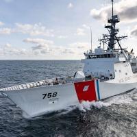 O Navio Patrulha Oceânica norte-americano USCGC Stone, que navegará pela Argentina e pelo Atlântico Sul em janeiro de 2020