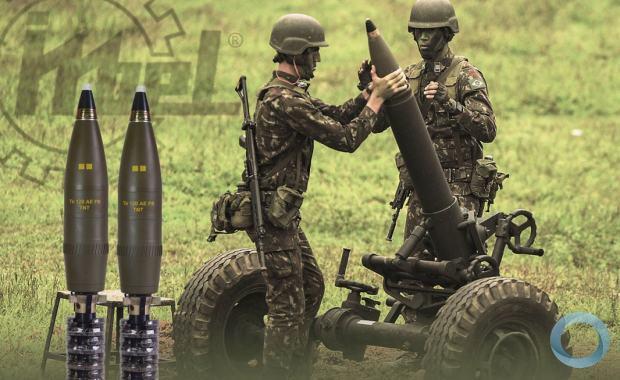 IMBEL entrega lotes de munição para morteiro pesado no 4º Depósito de Suprimento
