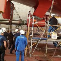 Naval Group instala hélice feita em impressora 3D