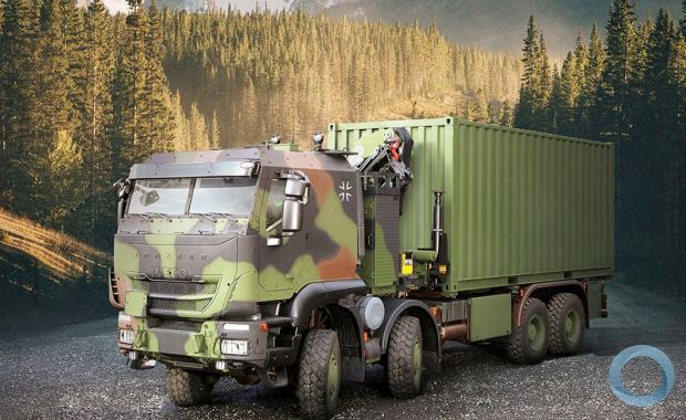 IVECO Defence Vehicles supplies 3rd generation of protected military GTF-8x8 (ZLK 15t) trucks to the Bundeswehr