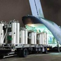 Foram transportados pacientes, tanques de oxigênio líquido, cilindros e equipamentos para o combate ao novo Coronavírus.