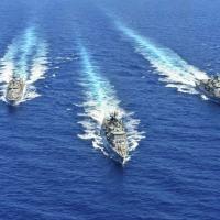 Navios da Marinha grega participaram de um exercício militar no Mediterrâneo oriental em agosto passado
