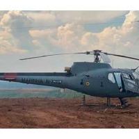 Aeronave UH-12, do 1º Esquadrão de Helicópteros de Emprego Geral do Oeste, apoiou as ações de combate ao desmatamento