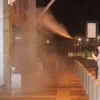 Militares realizam descontaminação preventiva no Aeroporto Internacional de Belém (PA)