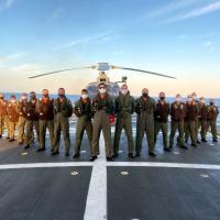 "Destacamento Aéreo Embarcado do EsqdHU-1 a bordo da Corveta ""Barroso"""