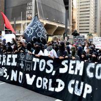 Manifestação contra Copa do Mundo , em 2014, São Paulo .