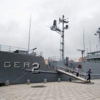 O navio espião americano tornou-se um museu em Pyongyang
