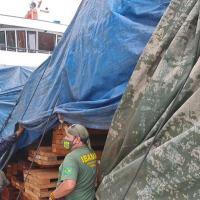 Operação Verde Brasil - Marinha apreende embarcação com madeira irregular em Barcarena (PA)