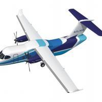 DESAER – Anuncia acordo para Futura Planta Industrial . NA foto o projeto da aeronave ATL-100 Arte DESAER
