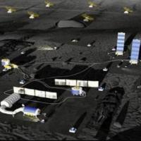 Representação artística da ILRS na Lua (Imagem: Reprodução/CNSA/CLEP)