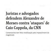 Perseguição política ao jornalista Coppola pela lista pelo impeachment do juiz Alexandre Moraes