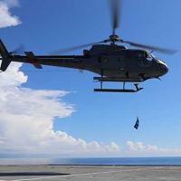 """EsqdHU-1 realiza exercício de pick-up a bordo do NAM """"Atlântico"""""""