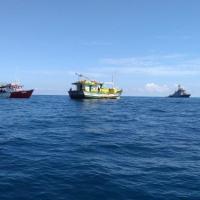 """Navio-Patrulha """"Guajará"""" realiza escolta das embarcações apreendidas"""