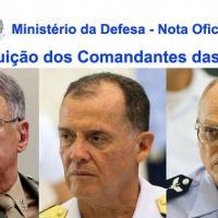 NOTA MD - Comandantes serão Substituídos