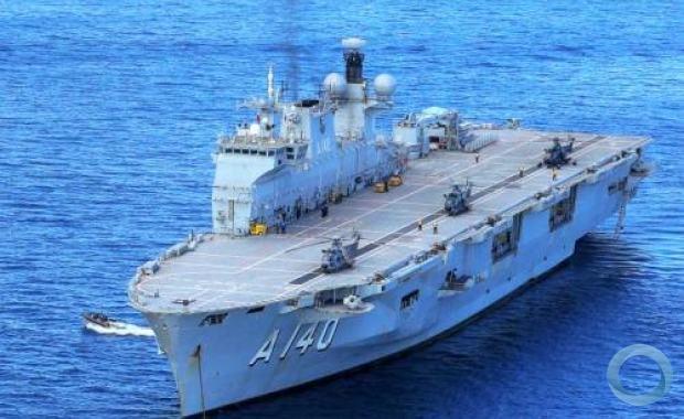"""Aeronaves da Marinha, do Exército e da Força Aérea no convoo do NAM """"Atlântico"""""""